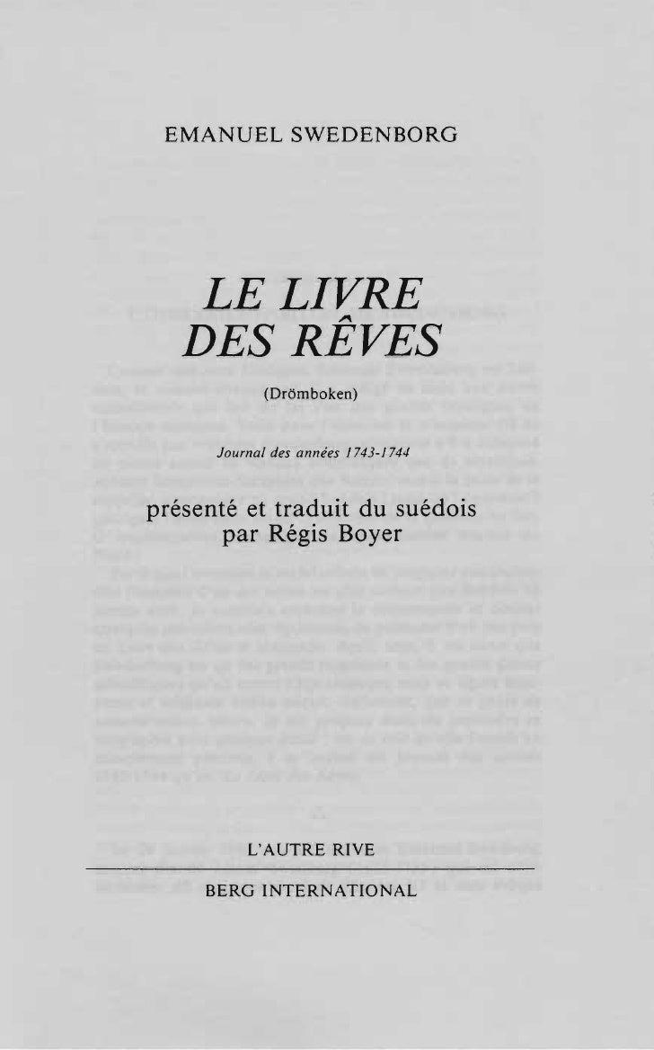 Em swedenborg-le-livre-des-reves-dromboken-journal-des-annees-1743-1744-g-e-klemming-1859-c-th-odhner-1918-regis-boyer-1993