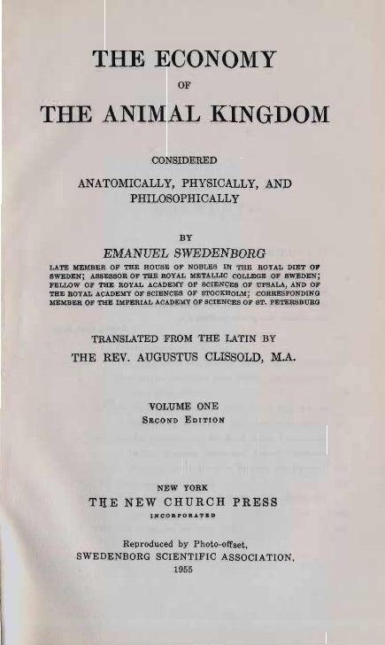THE ECONOMY                            OFTHE ANIMAL KINGDOM                      CONSIDERED      ANATOMICALLY, PHYSICALLY,...