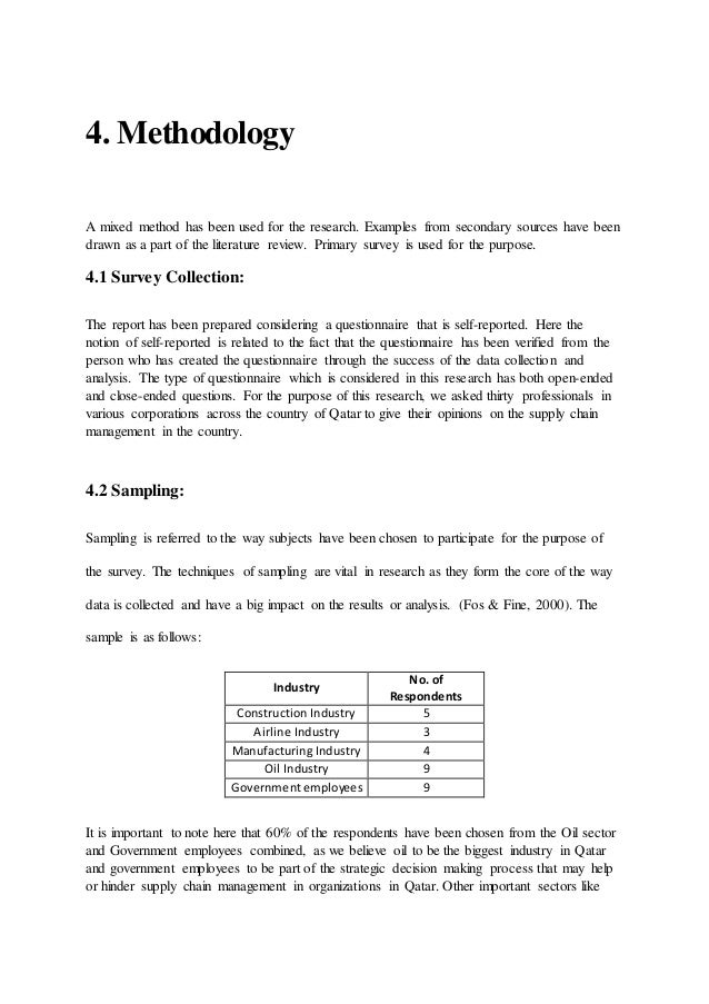 How to write a simple research methods section - The