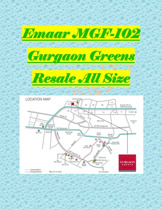 Emaar MGF-102 Gurgaon Greens Resale All Size