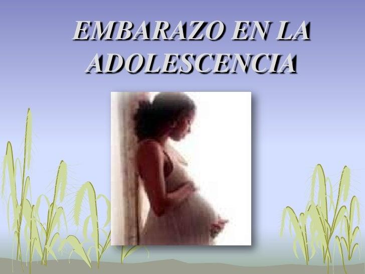 EMBARAZO EN LA ADOLESCENCIA <br />