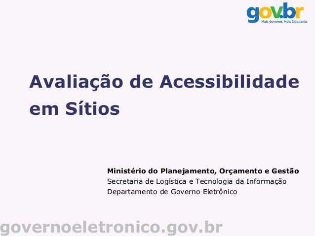 e-MAG - Avaliação de Acessibilidade em Sítios