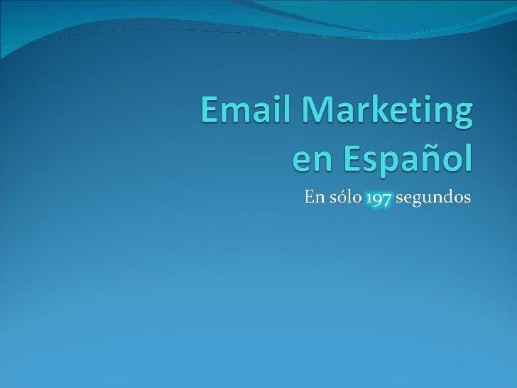 Email  Marketing en  Español
