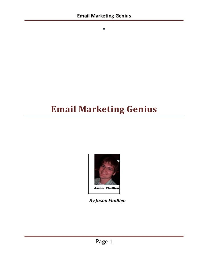 Email Marketing Genius