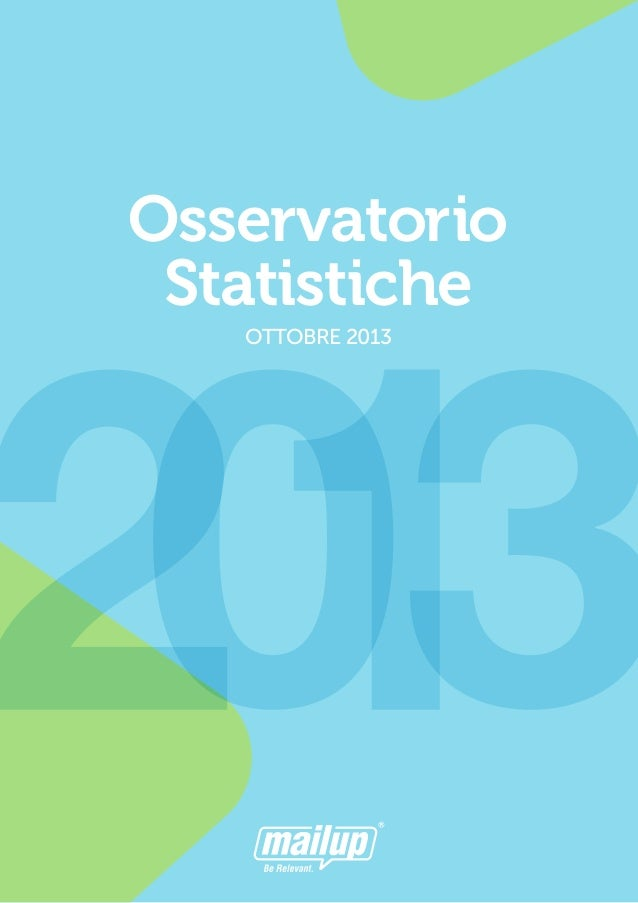 Osservatorio Statistiche OTTOBRE 2013