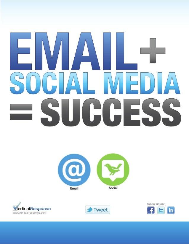 Email plus-social-equals-success