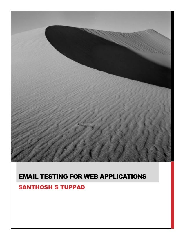 Email Testing for Web Applications by Santhosh Tuppad