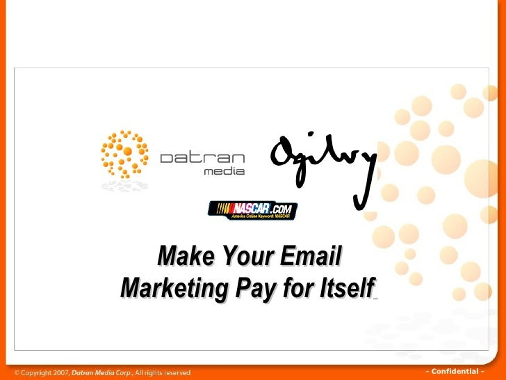 Make Your Email Marketing Pay for Itself