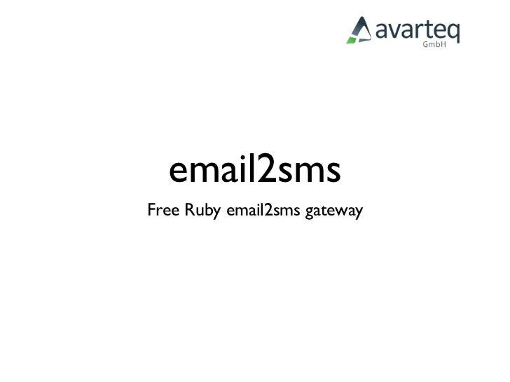 email2sms Free Ruby email2sms gateway