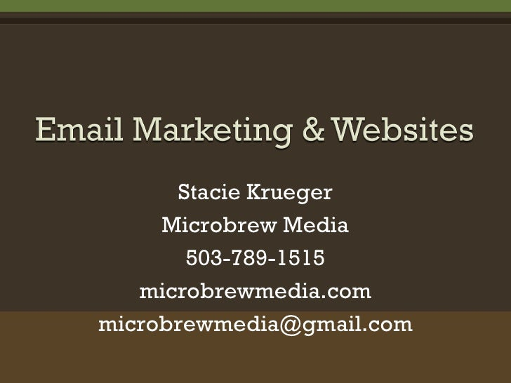 Stacie Krueger Microbrew Media 503-789-1515 microbrewmedia.com [email_address]