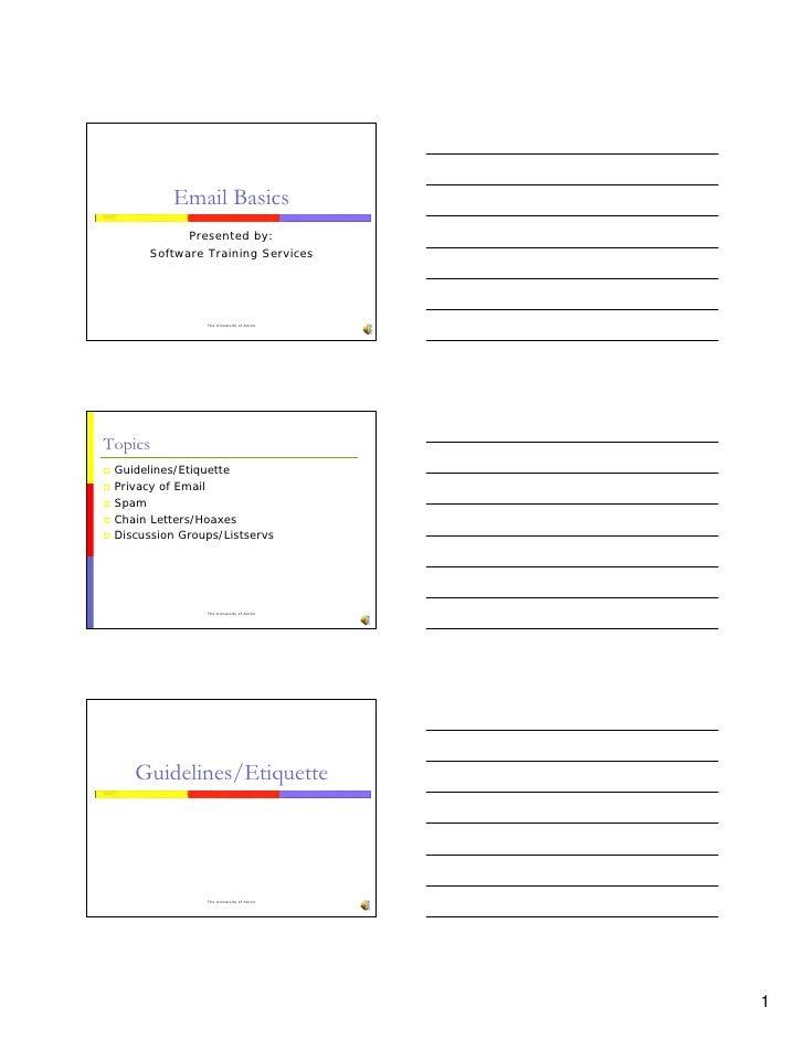 Email Basics Handout