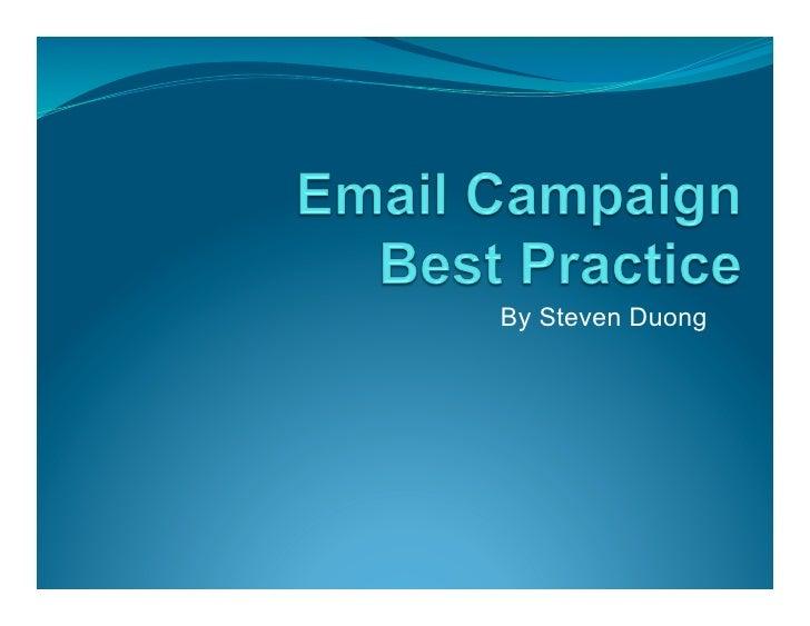 Email Best Practice