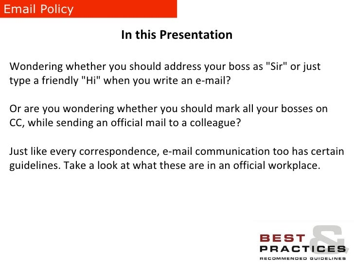 How to write emails to your boss