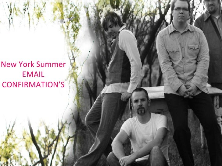 New York Summer EMAIL CONFIRMATION'S