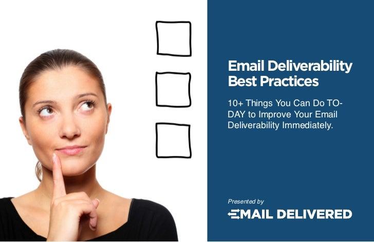 Email deliverabilitybestpractices