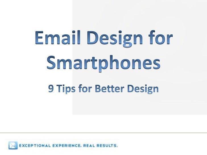 Agenda  Who Is Real Email Consulting?  The Right Message at the Right Place  Do Smartphone Numbers Justify the Extra Effor...