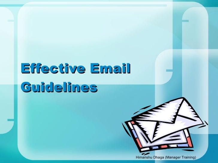 Email  Etiquettes 110