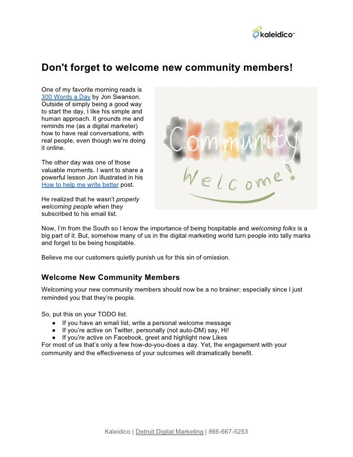 Email How-to: Welcome Your New Subscribers