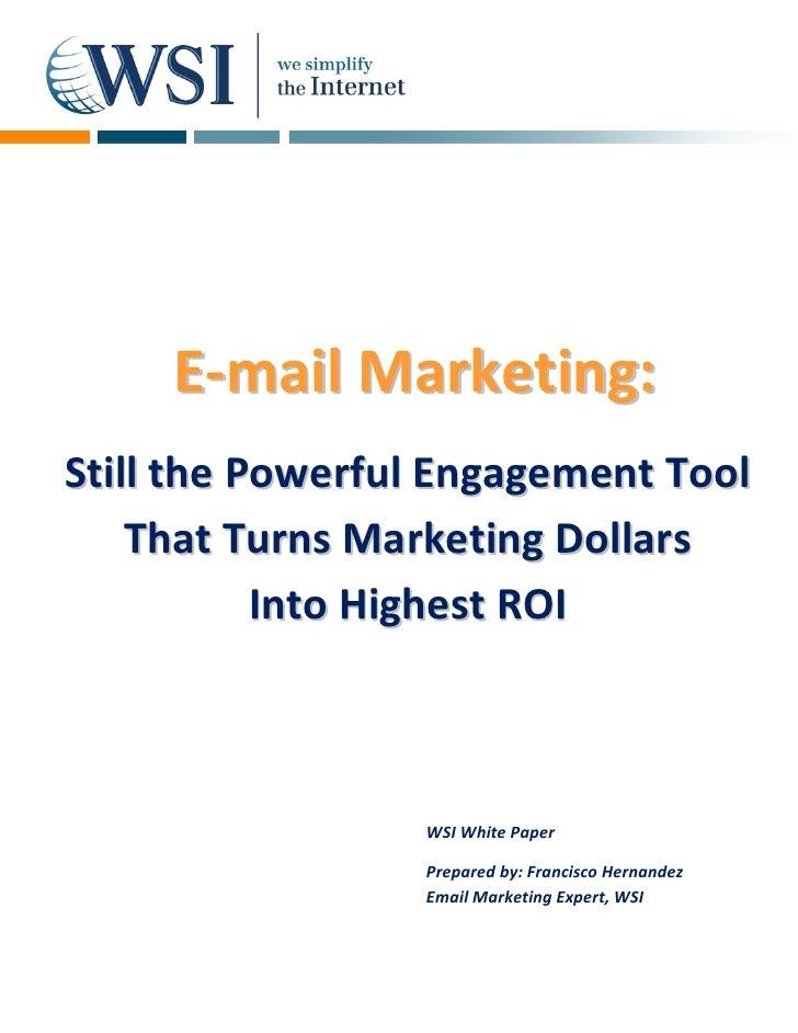 E‐mail Marketing:                  M      Stillth...