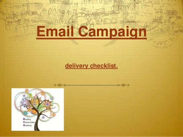 Emailmarketing - checklist