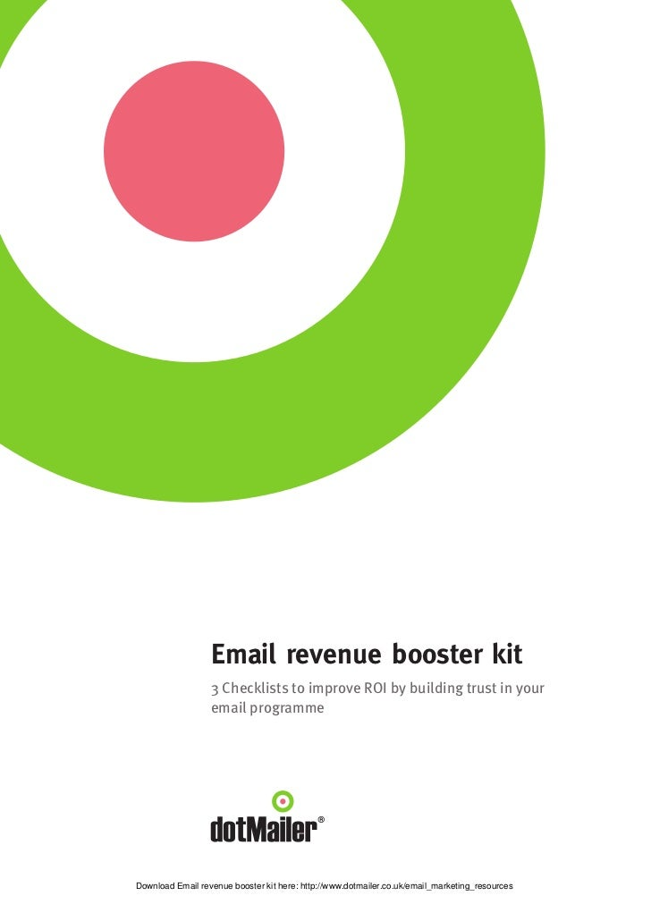 Email revenue booster kit                  3 Checklists to improve ROI by building trust in your                  email pr...