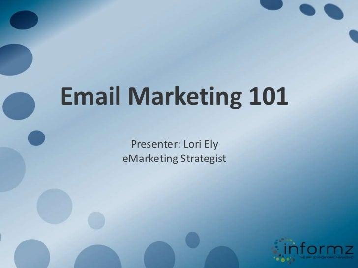 Email marketing 101 webinar