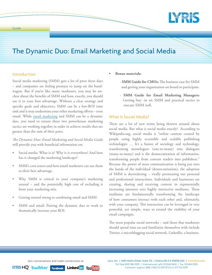 Guide     The Dynamic Duo: Email Marketing and Social Media  Introduction                                                 ...