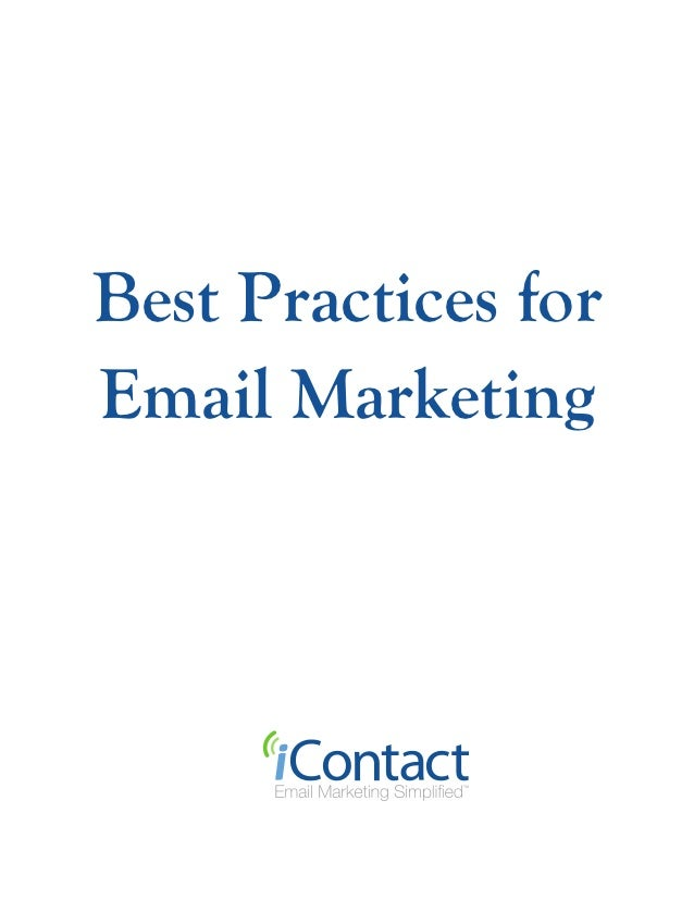 Best Practices forEmail Marketing