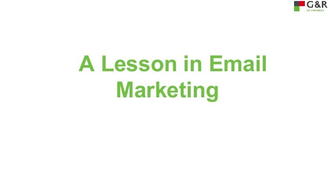 A Lesson in Email Marketing