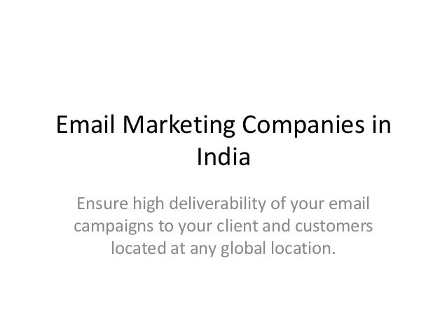 Email Marketing Companies in India Ensure high deliverability of your email campaigns to your client and customers located...