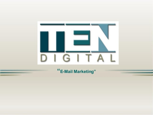 """E-Mail Marketing"""