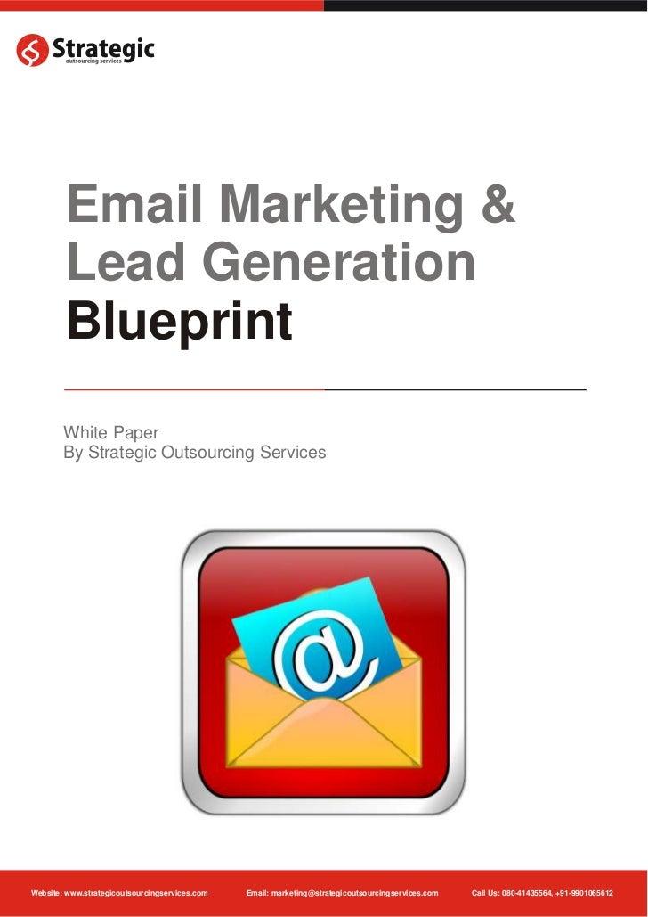 Email marketing lead generation blueprint