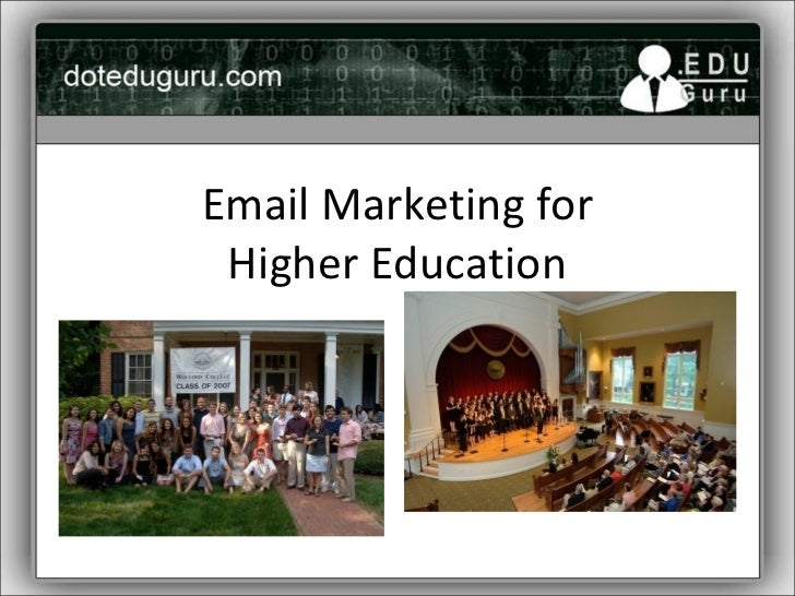 Email Marketing for Higher Education