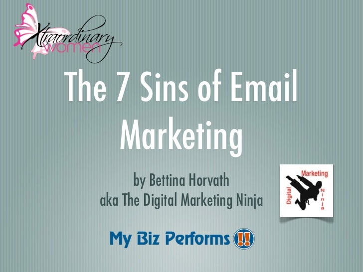 The 7 Sins of E-Mail Marketing