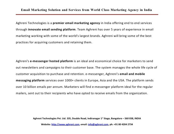 Email Marketing Solution And Services From World Class Interactive Marketing Company In India