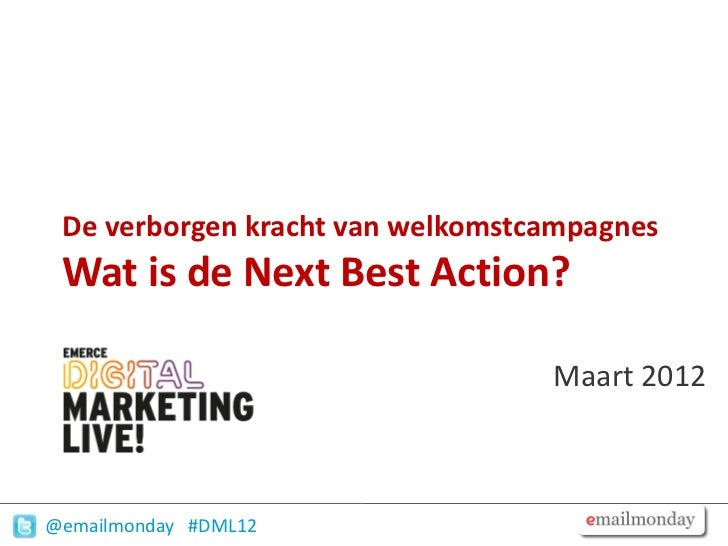 Email marketing welkomstmail dml