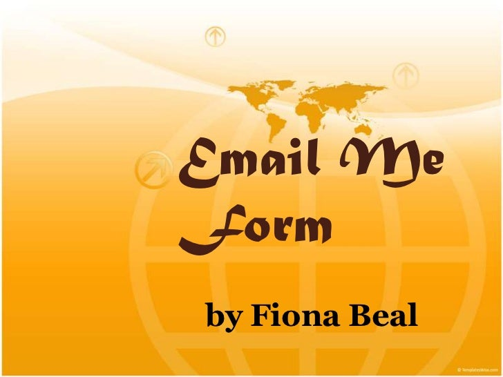 Email Me Form