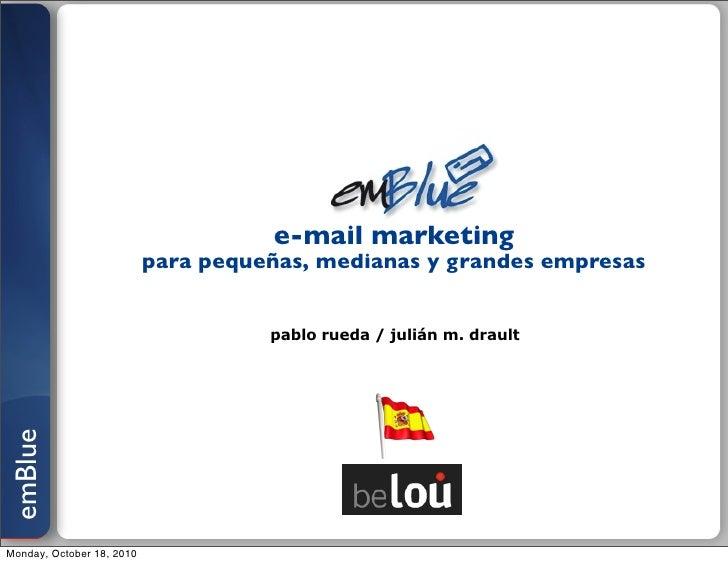e-mail marketing                            para pequeñas, medianas y grandes empresas                                    ...