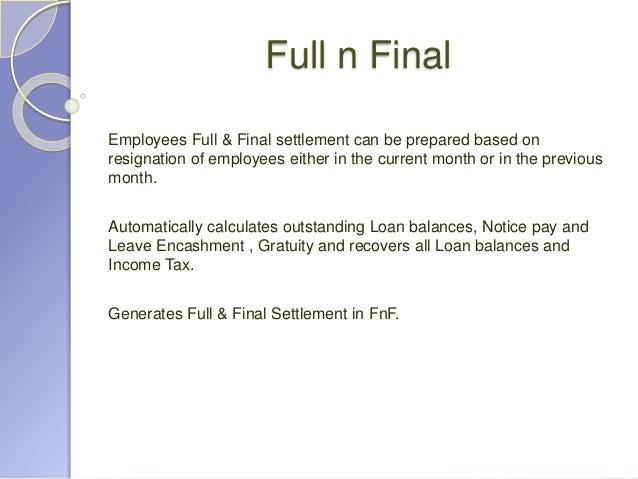 Salary Settlement Letter Format | Letter Format