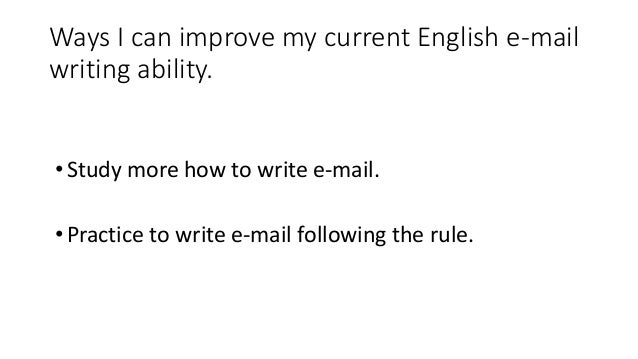 Would you please fix my english email?