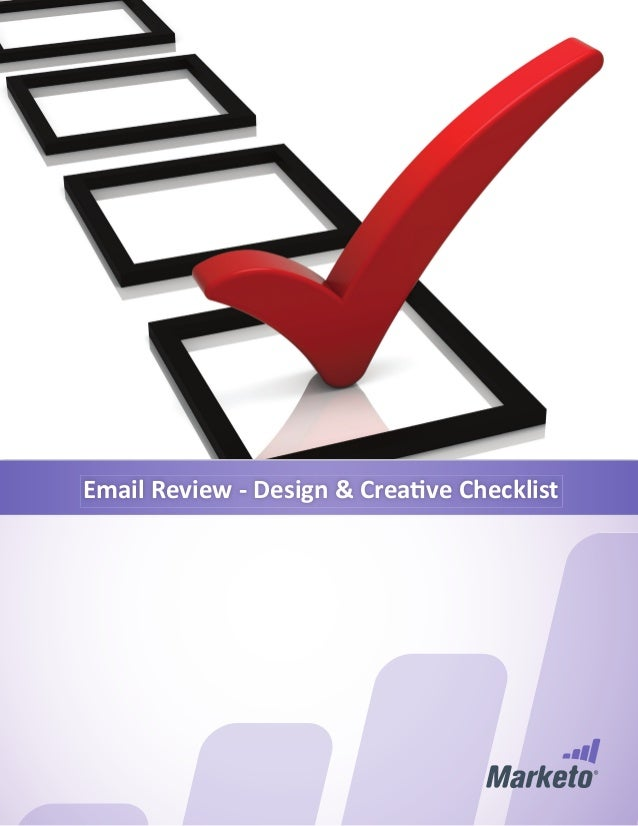 Email Review - Design & Creati ve Checklist