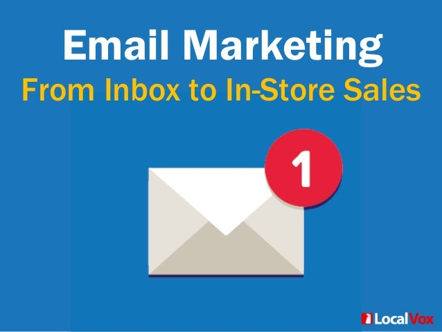 Email Marketing From Inbox to In-Store Sales