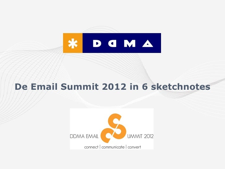 De Email Summit 2012 in 6 sketchnotes
