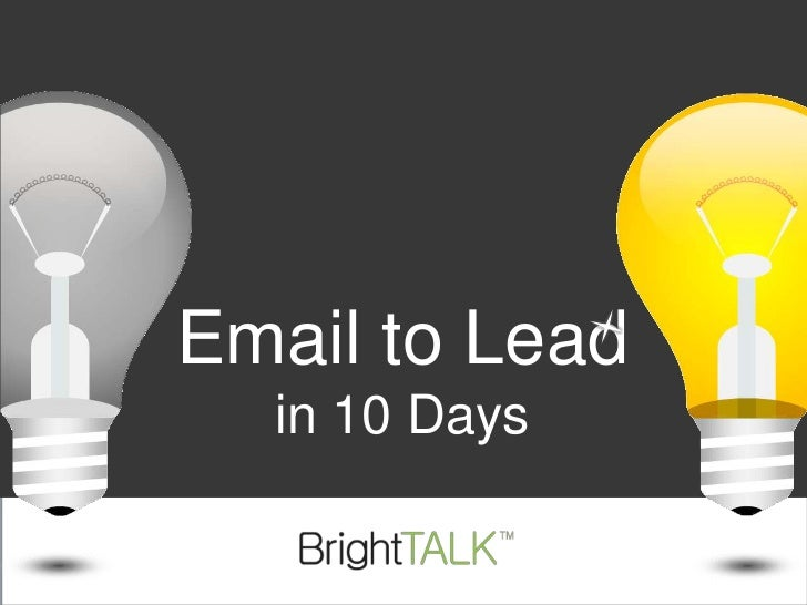 Email to Lead in 10 Days<br />