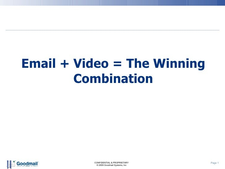 Email + Video = The Winning Combination