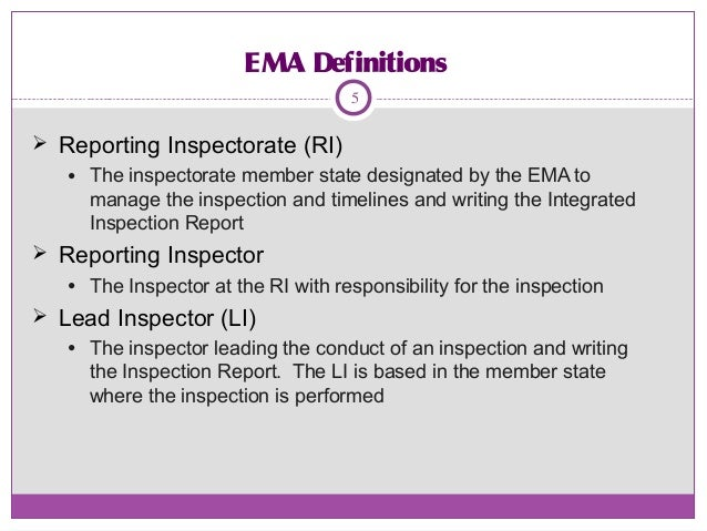 Inspection Report Writing Inspection Report