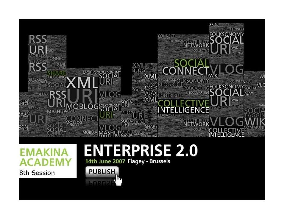 David Rademaker Strategic Consultant Emakina     Introduction Potential of Enterprise 2.0