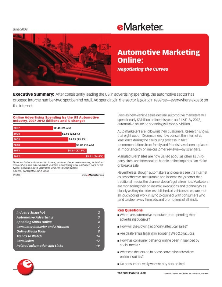 eMarketer Auto Marketing