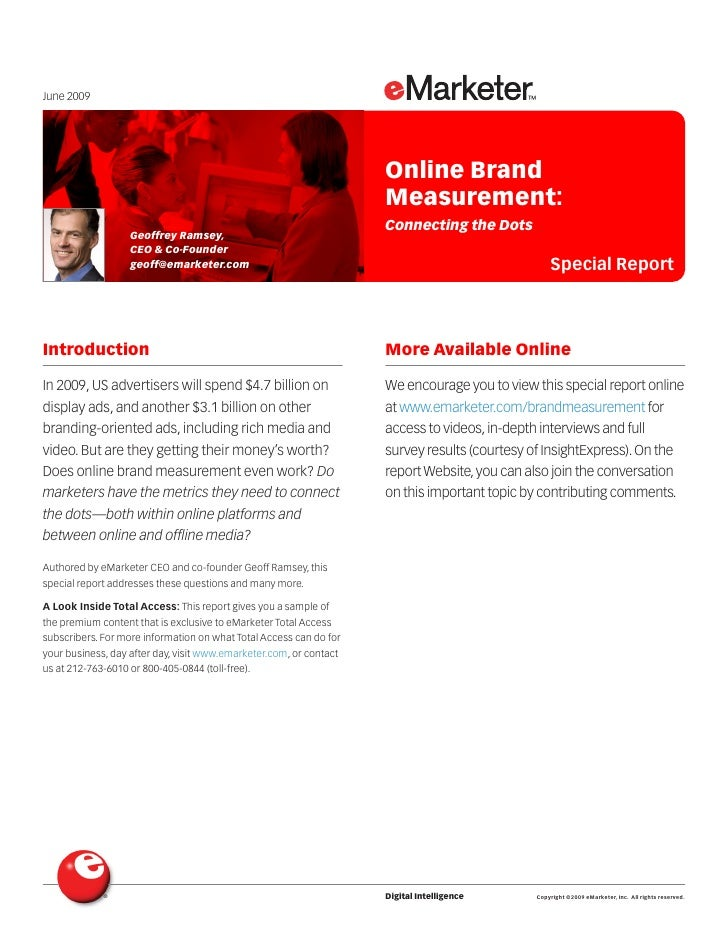 E Marketer Online Brand Measurement Report