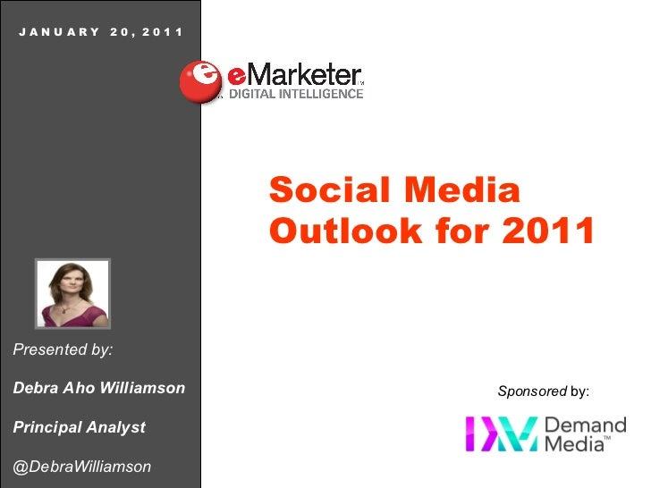 eMarketer Webinar: Social Media Outlook for 2011